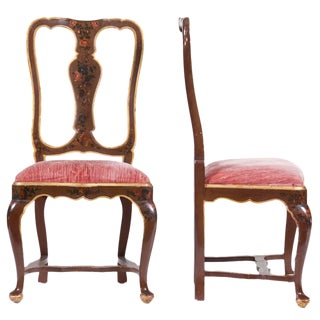 Venetian Painted Chairs- a Pair For Sale