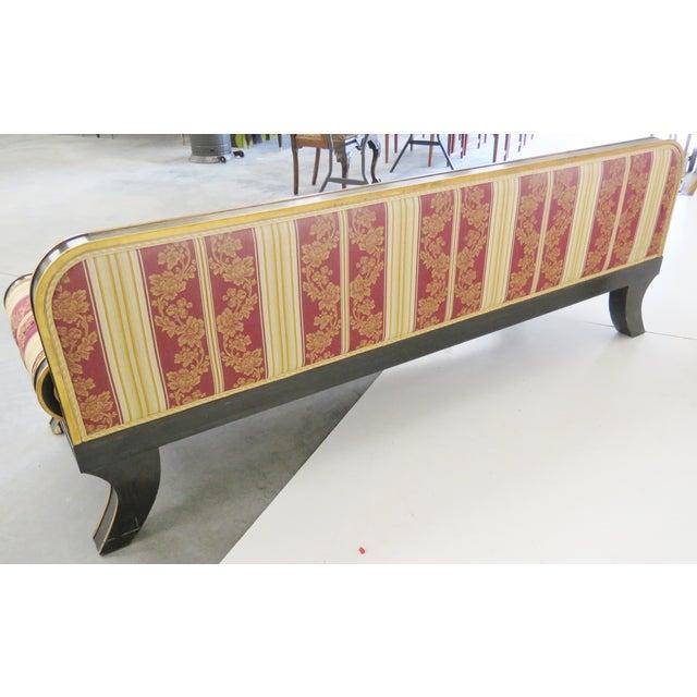 Regency-Style Ebonized & Gilt Fainting Sofa - Image 5 of 5