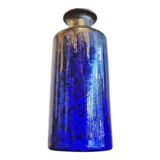 Crystalline Blue Wendelin Stahl Cylinder Vase For Sale