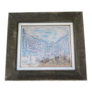 "1950's Print of ""The Rue Royale"" Paris France For Sale"