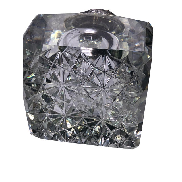 Metal Antique Cut Glass and Sterling Inkwell For Sale - Image 7 of 8