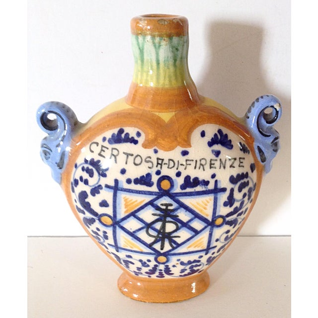 Sweet little bottle from Italy. Perfect for that intimate bouquet of flowers at a bedside, in a bathroom or on a desk.
