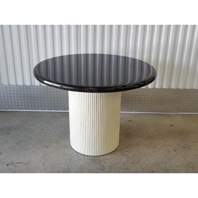 1970s Mid-Century Modern Enrique Garcel Tessellated Bone and Goatskin Center Table For Sale - Image 12 of 12