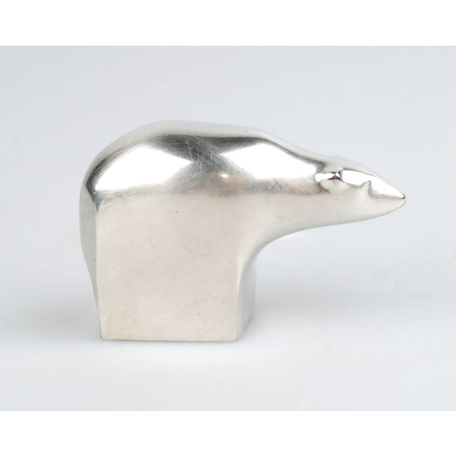 Asian Dansk Polar Bear Paperweight For Sale - Image 3 of 6