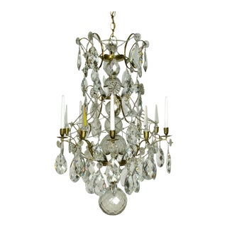Swedish 18th Century Rococo Chandelier For Sale