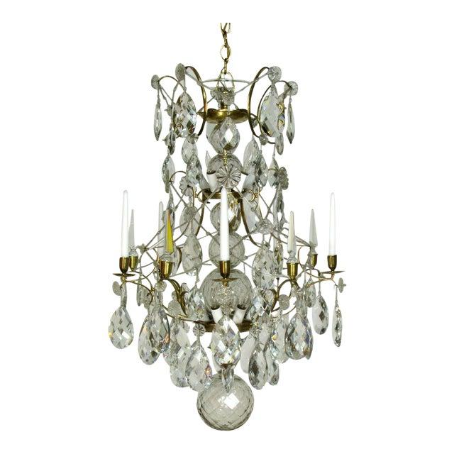 Swedish 18th Century Rococo Chandelier For Sale