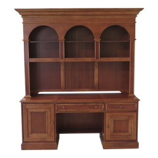 Hooker Cherry Office Credenza Hutch For Sale