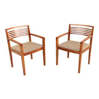 Vintage Joseph and Linda Ricchio for Knoll Studio Ricchio Dining Chairs - a Pair For Sale