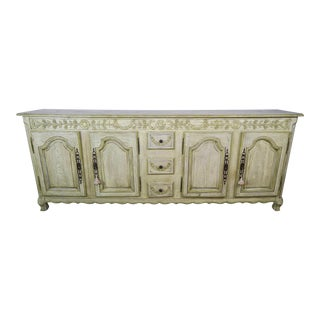 French Carved Painted Louis XV Style Credenza/SideboardFrench Louis XV Style Painted Sideboard, Circa 1900s For Sale