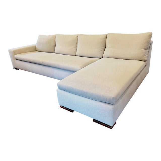 Italian Minotti Sectional Sofa With Chaise For Sale