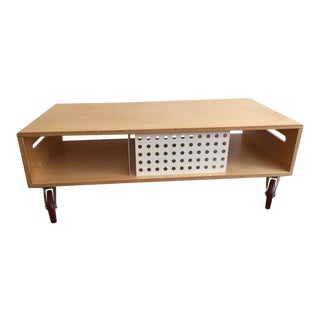 Contemporary Maple Go-Cart Coffee Table For Sale