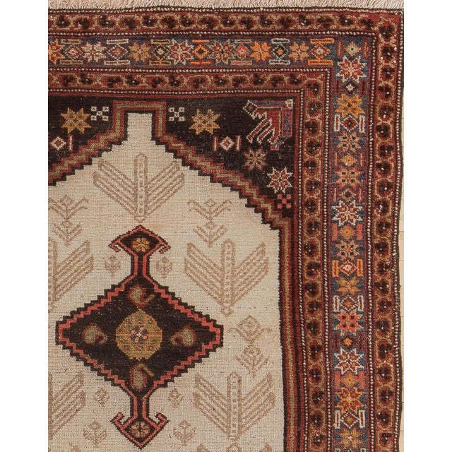 Early 20th Century Early 20th Century Antique Malayer Village Rug - 3′6″ × 5′11″ For Sale - Image 5 of 8