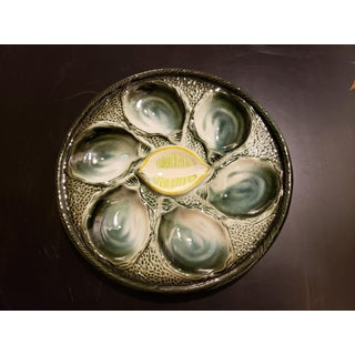 Mid 20th Century Majolica Oyster Plates With Lime Center - Set of 5 Preview