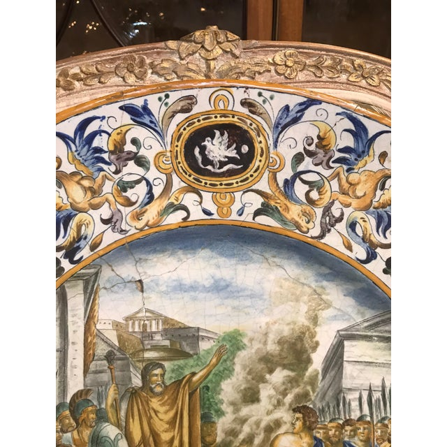 Large 19th Century Italian Faience Charger For Sale In Dallas - Image 6 of 10