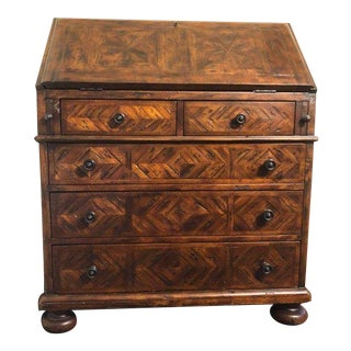 1990s Victorian Theodore Alexander Castle Bromwich Slant Drop Desk