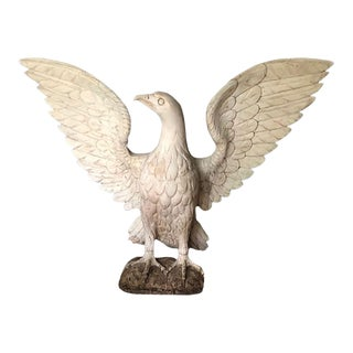 19th Century Carved Wood Swedish Eagle Sculpture For Sale