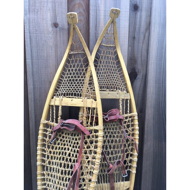 Vintage Ojibwe Snow Shoes - A Pair - Image 6 of 7