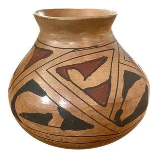 Mid 20th Century Pueblo Native American Pottery Vase For Sale