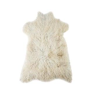 "Contemporary Long Wool Sheepskin Pelt.Handmade Rug - 2'0""x3'0"" For Sale"