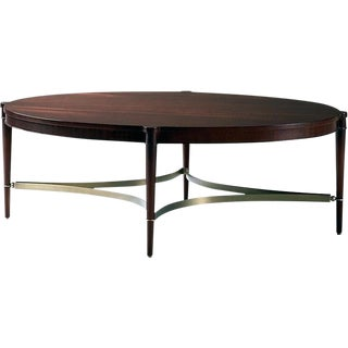 Thomas Pheasant for Baker Oval Coffee Table For Sale
