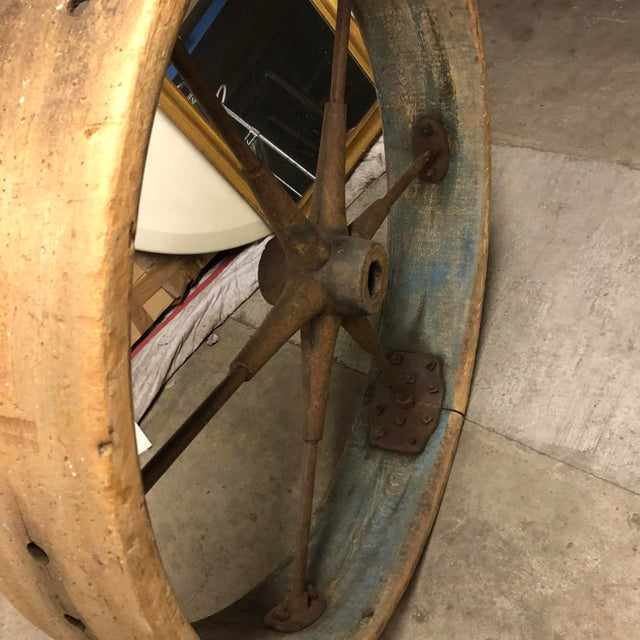 Early 20th Century Old Industrial Wheel For Sale - Image 4 of 6