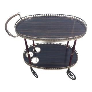 Silver Handle Bar Cart