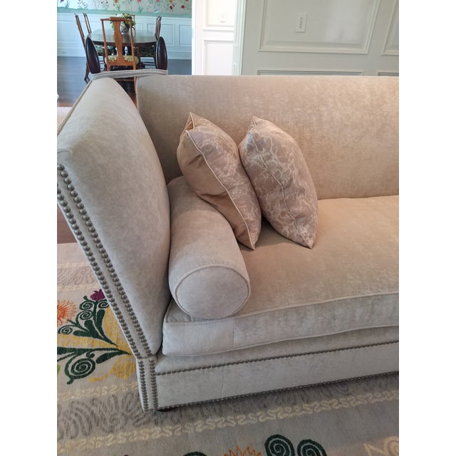 George Smith Light Silver Grey Sofa - Image 6 of 9