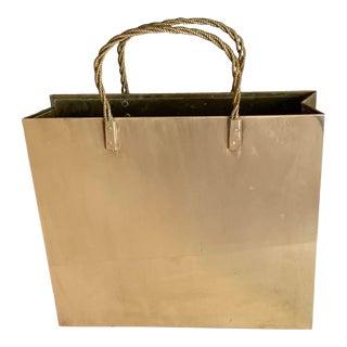 Vintage Italian Brass Shopping Bag Magazine Holder For Sale
