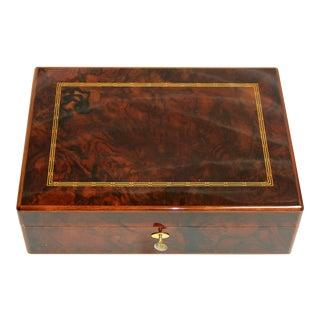 Late 20th Century Solid Mahogany Dunhill Humidor Cigar Box For Sale