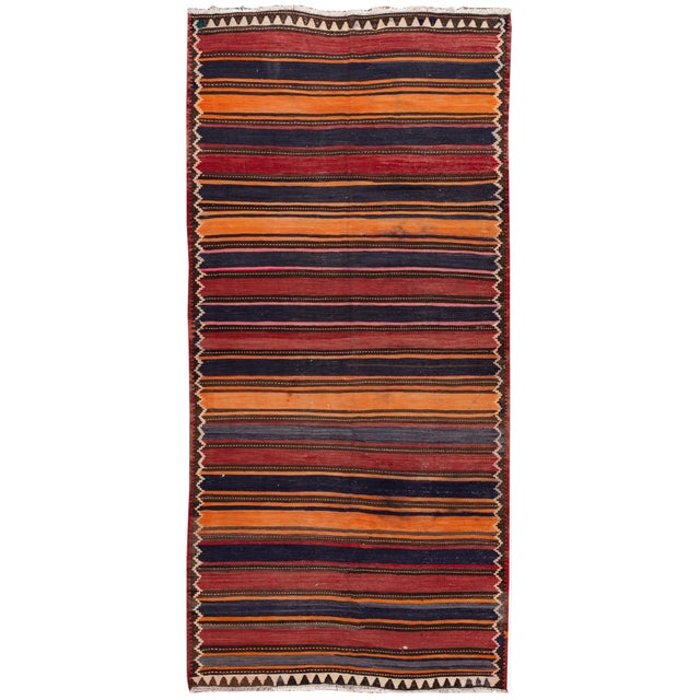 "Mid-20th Century Vintage Kilim Runner Rug 5' 2"" X 10' 10''. For Sale - Image 13 of 13"