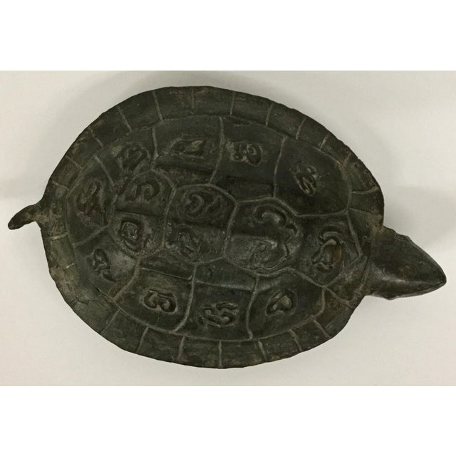 1940s Antique Bronze Turtle Accent Piece Paperweight For Sale - Image 4 of 12