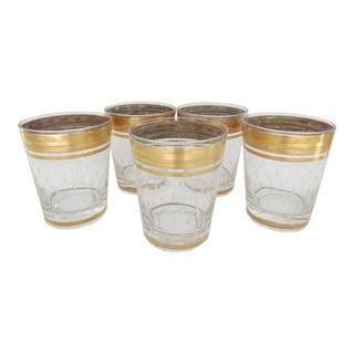 Gold Band Glasses - Set of 5