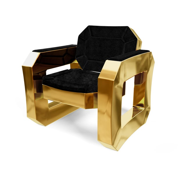Not Yet Made - Made To Order Facet Lounge Chair by Artist Troy Smith - Contemporary Design - Handmade Furniture For Sale - Image 5 of 8
