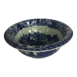 Large Victorian Ware Ironstone Bowl For Sale