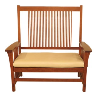 Stickley Mission Oak Spindle Back Settee