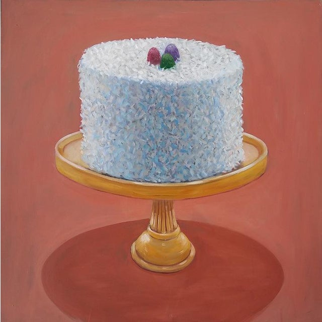 Original Coconut Cake Painting by Paula McCarty For Sale
