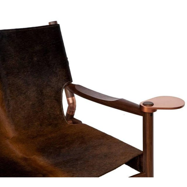 2010s Customizable Erickson Aesthetics Slung Brindle Walnut Lounge Chair For Sale - Image 5 of 7