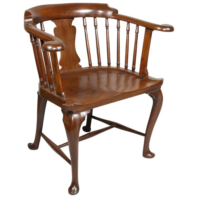 George III Mahogany Captains Armchair For Sale - Image 10 of 10