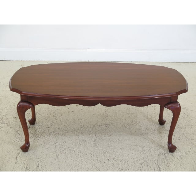 Henkel Harris Cherry Scalloped Top Coffee Table For Sale - Image 10 of 10