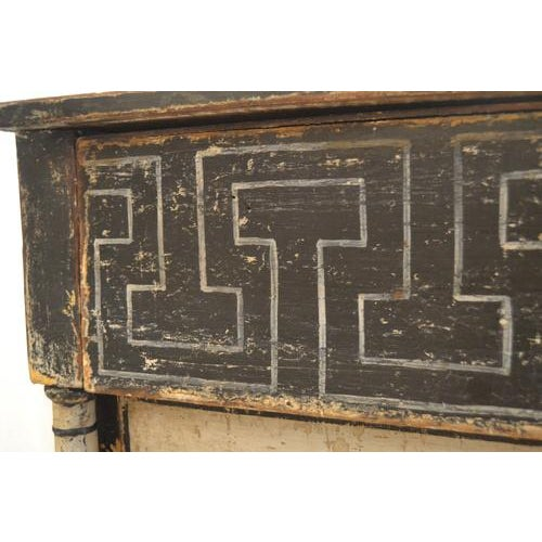 19th Century Antique Chest With New Paint (Black and White) From Spain For Sale - Image 5 of 13