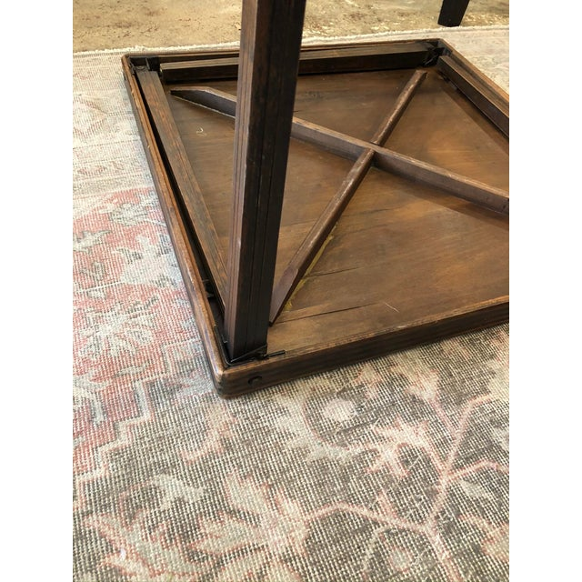 Brown Vintage Mid Century Folding Card Table For Sale - Image 8 of 13