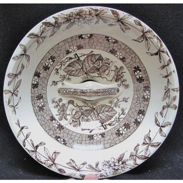 Ceramic T. Furnival & Sons Brown Hazel 8 Quart Sop Pot Jar and Lid For Sale - Image 7 of 10