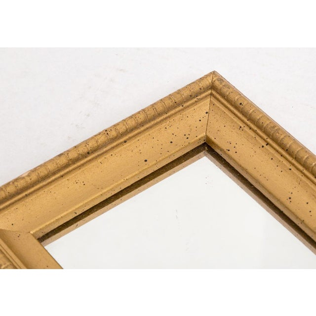 Mid 20th Century Narrow Gold Wall Mirrors - a Pair For Sale - Image 5 of 6