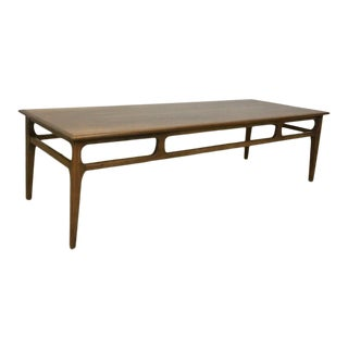 Classic Mid Century Walnut Coffee Table For Sale