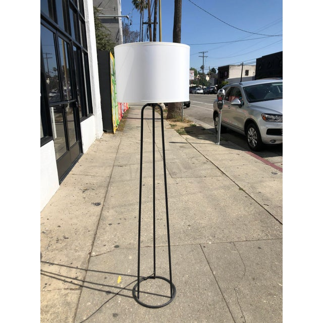 Mid 20th Century 1980s Vintage Minimalist Iron Tripod Floor Lamp For Sale - Image 5 of 7