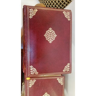 French Burgundy and Gold Leather Bound Classic Books - Set of 24 Preview
