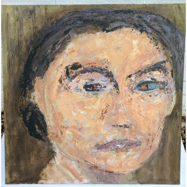 Impressionist Oil Portrait Painting of Woman For Sale - Image 11 of 11
