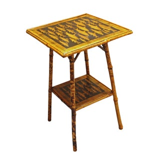 19th Century Figurative 2-Tier Bamboo Side Table
