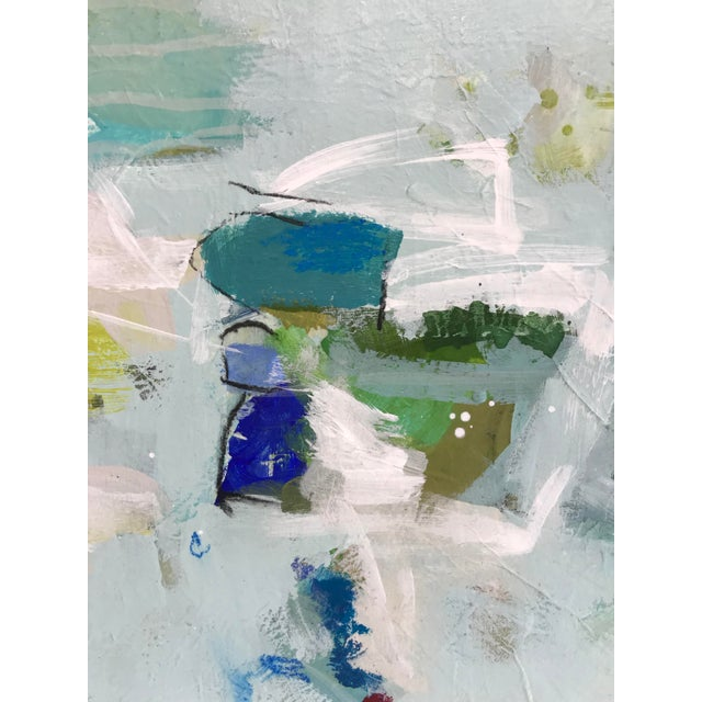 "Canvas Gina Cochran ""Let's Play Pretend"" Large Original Abstract Painting For Sale - Image 7 of 12"