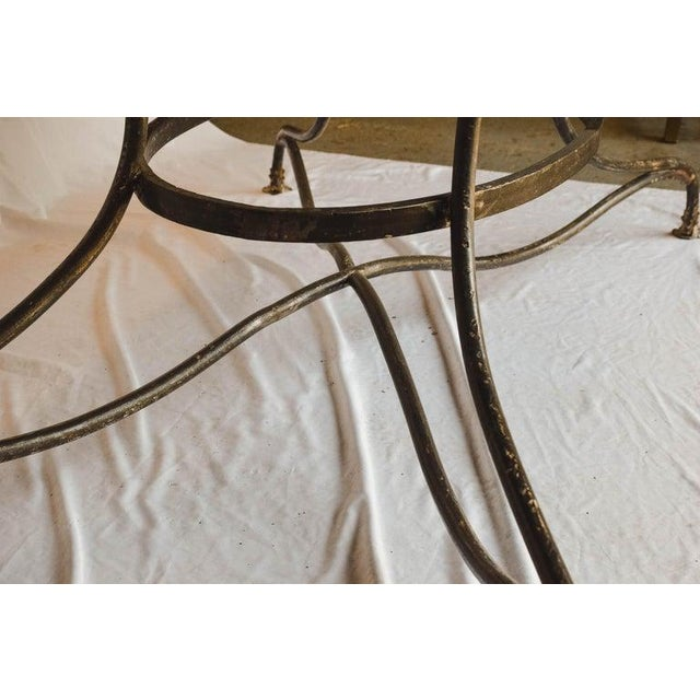 Early 20th Century Large French Wrought Iron Garden Table From Arras With Rectangular Top For Sale - Image 5 of 13